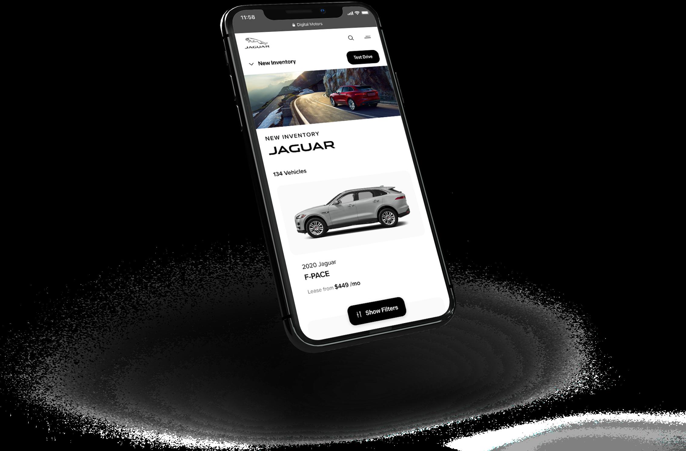 Jaguar Floating iPhone